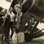 Amelia Earhart Beside Her Plane, ca. 1930s