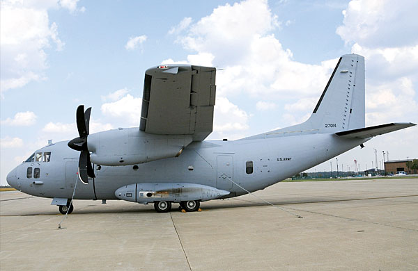 First C-27J Spartan  arrives late for duty