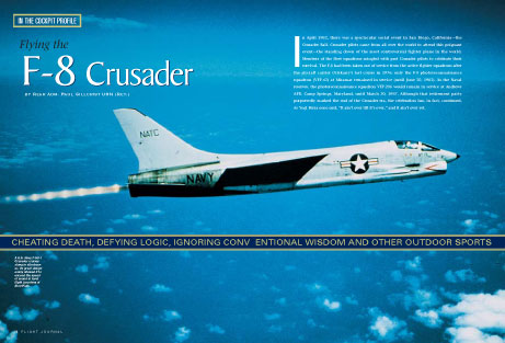 Flying the F8 Crusader