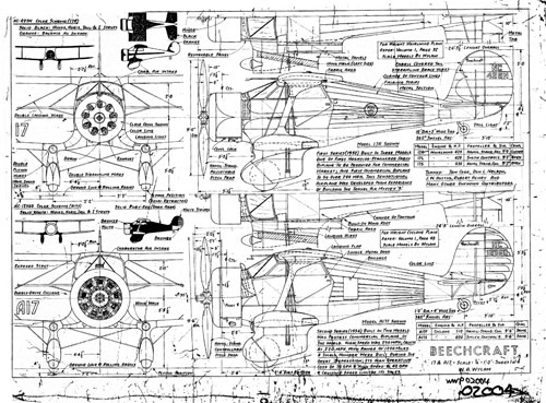 Beechcraft Staggerwing Drawings from  William Wylam