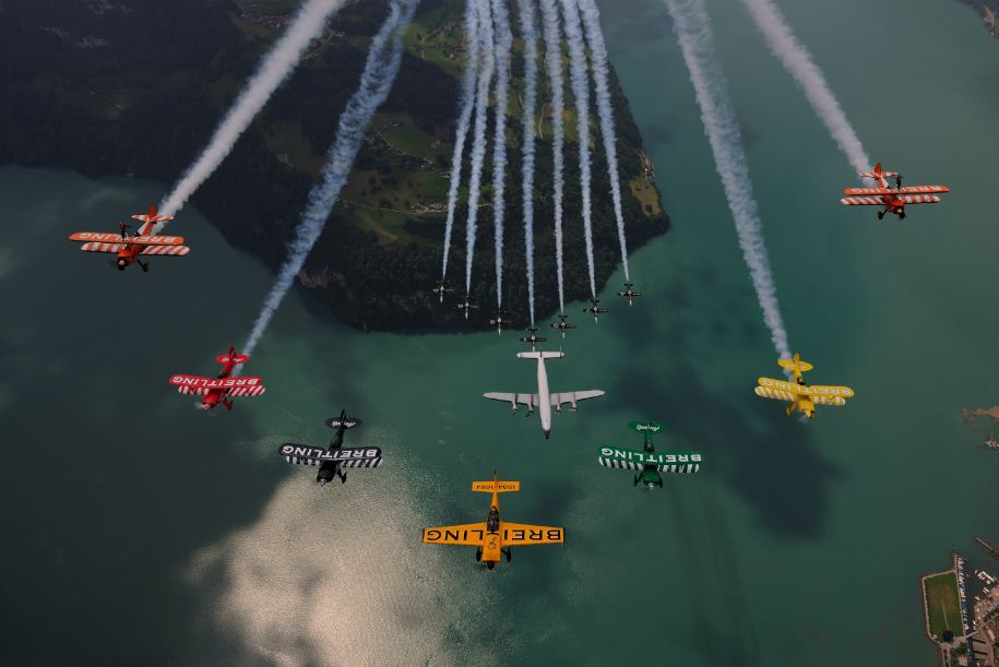 Breitling fleet air-to-air photo