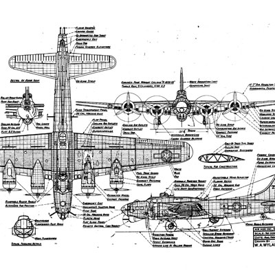 B-17 Flying Fortress Online  B17 Bomber Drawing