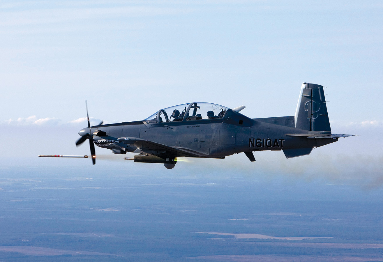 Beechcraft AT-6: The First Fixed-Wing Aircraft To Use Laser-Guided Rockets
