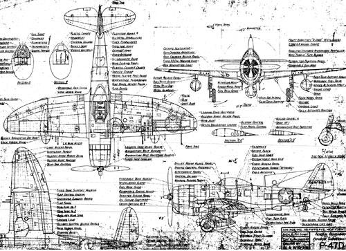 William Wylam P-47D Drawing