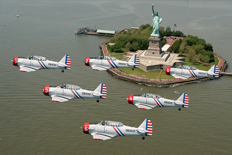 GEICO SKYTYPERS POST MESSAGES IN THE SKIES OVER LONG ISLAND