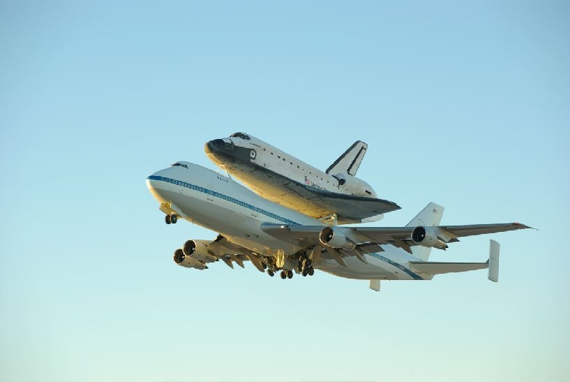 747 Pilot comments about carrying the Shuttle