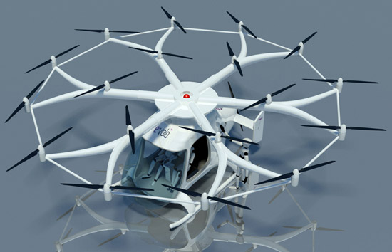 Eighteen-rotor personal helicopter coming to a driveway near you
