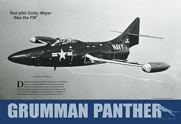 Today in Aviation History: Corky Meyer Test-Flies the F9F Panther
