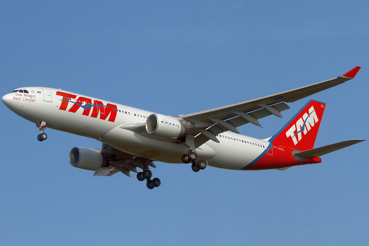 TAM Flight Lands Safely After Nose Gear Malfunction
