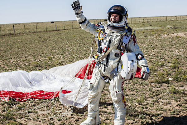 Baumgarter Sets Records in Successful Jump Attempt