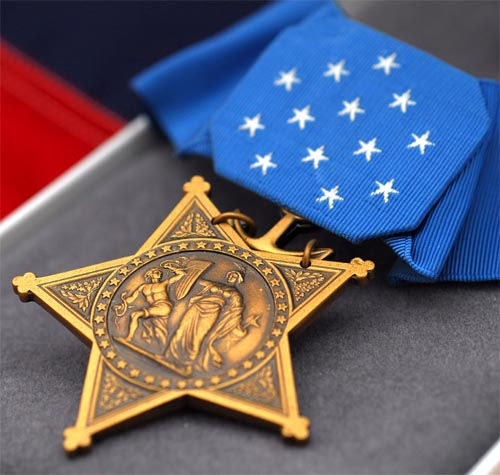 USMC Fighter Flies for Medal of Honor Recipients