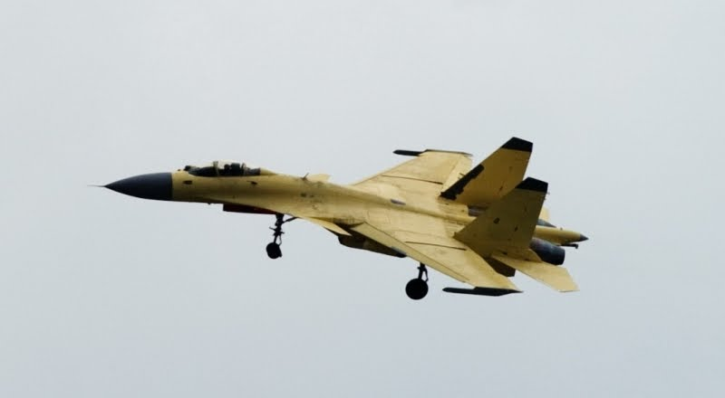 Fighter Completes Landing Test on Chinese Carrier