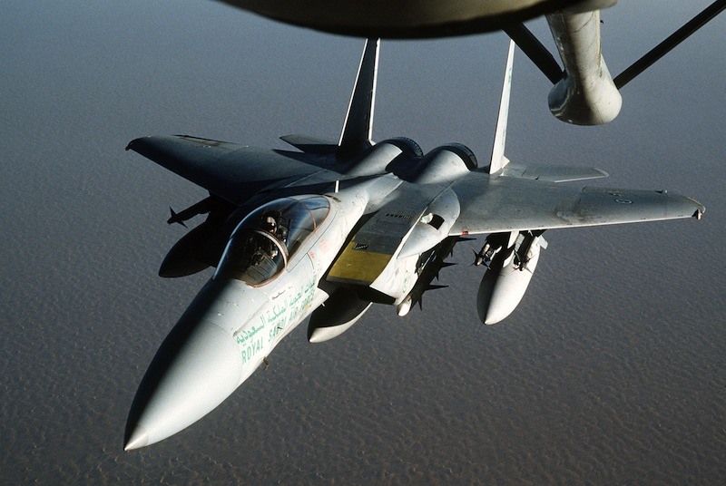 Saudi F-15 Crashes in Persian Gulf