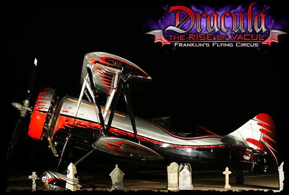 Kyle Franklin Debuts 'Dracula' Biplane