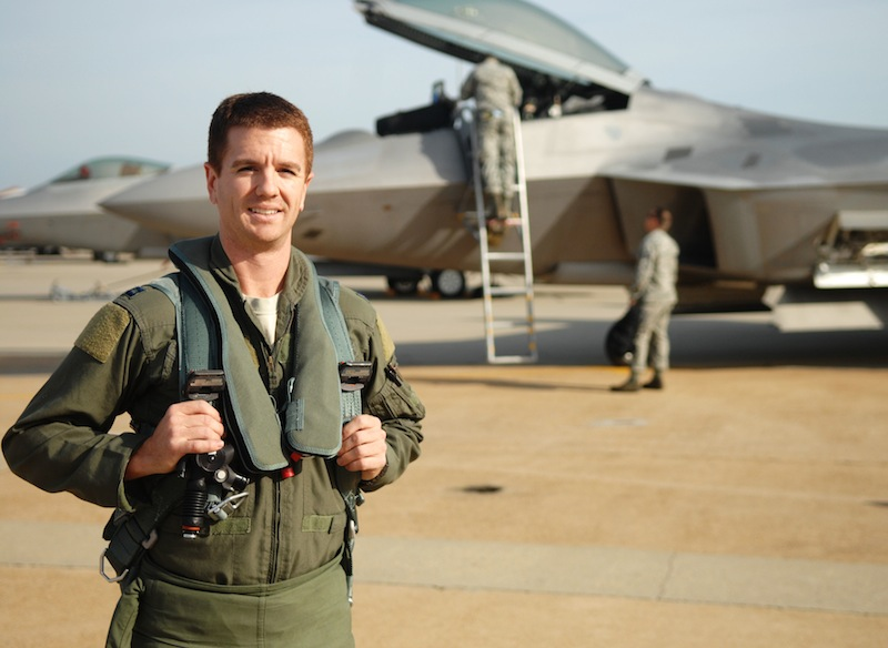 Airman Shows Skills as New F-22 Demo Pilot