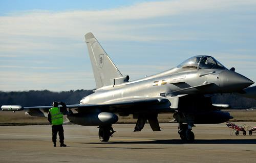 RAF Typhoons Blow Into Langley AFB