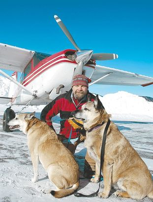 Pilot Shares Plane with Rescue Dogs