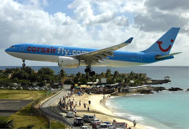 No Plane, No Gain at St. Maarten's Maho Beach