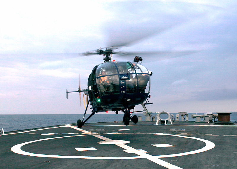 Indian Navy Copter Crashes, 2 Missing