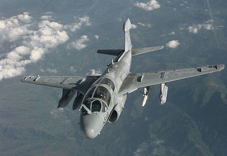 Navy Prowler Crashes in Washington State