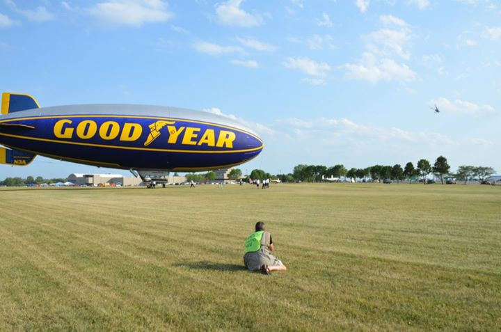 Spirit of Goodyear Floats Over North Carolina
