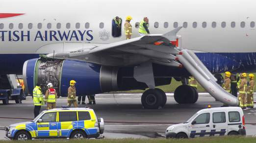 British Airways Jet Catches Fire, Makes Emergency Landing