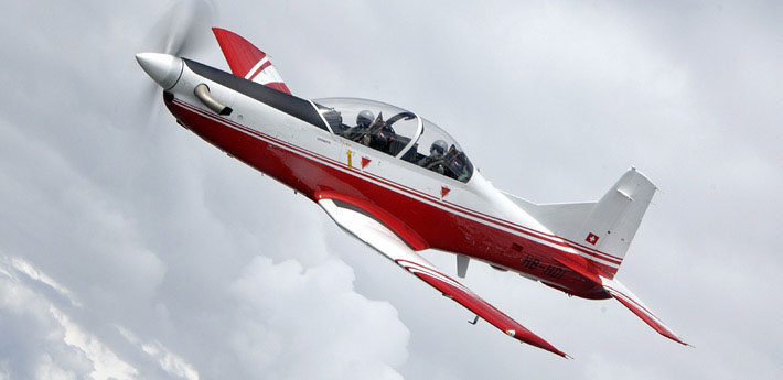 Indian Air Force Inducts PC-7 Trainers
