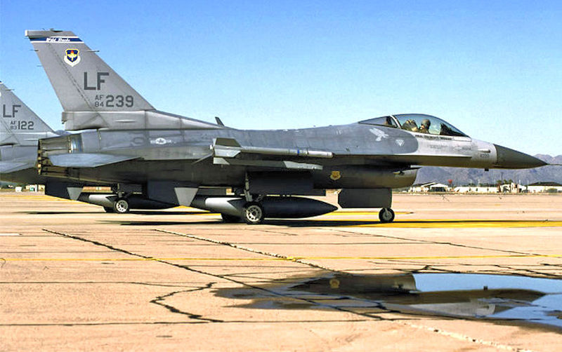 F-16 Crashes in Arizona; Pilots OK