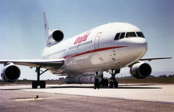 L-1011 Drop-Launches NASA Satellite