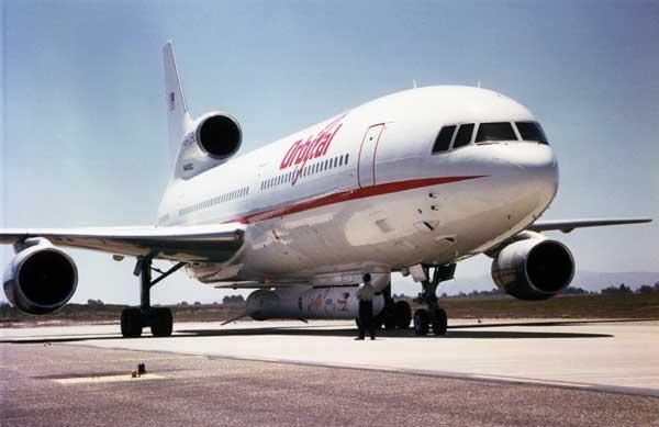 L-1011 Drop-Launches NASA Satellite
