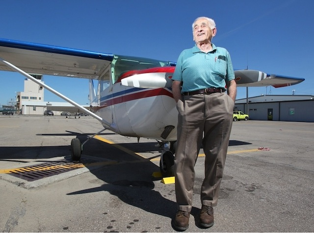 90-Year-Old Pilot Completes 90 International Crossings