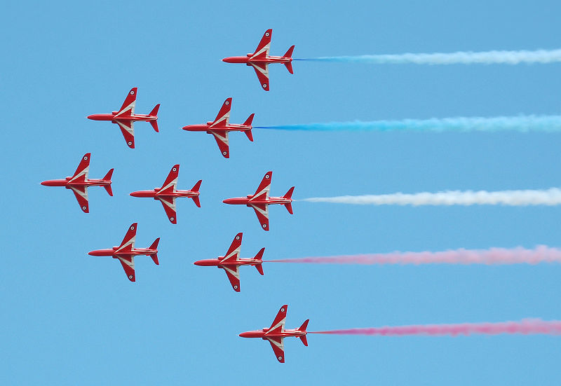 VIDEO: Red Arrows Over England