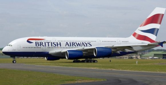 British Airways A380 Arrives at Base