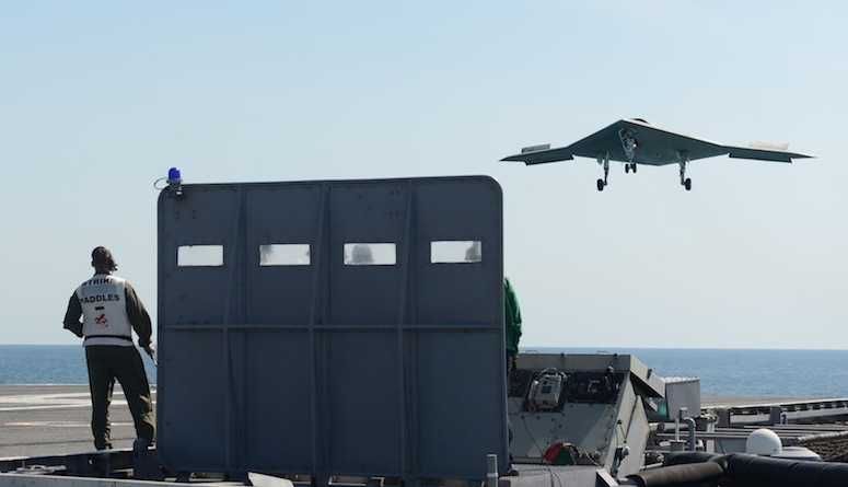 X-47B Begins Flights from Carrier