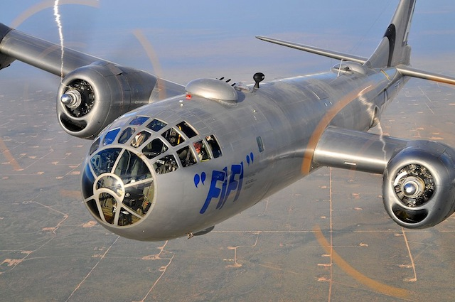 B-29 'FIFI' Entertains Wisconsin WWII Vets