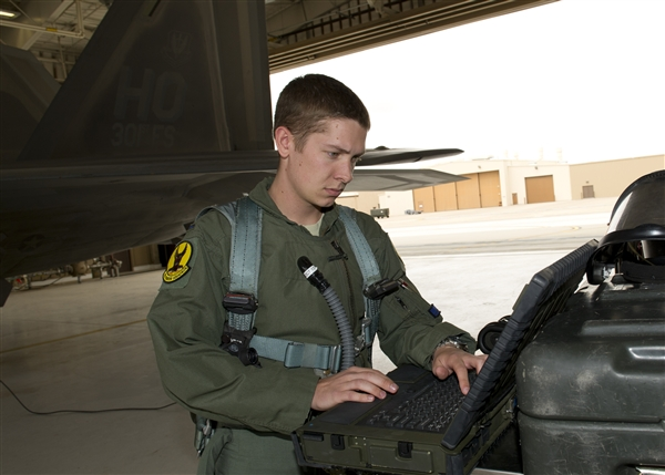 Air Force Pilot Flies 'Pipe Dream' F-22