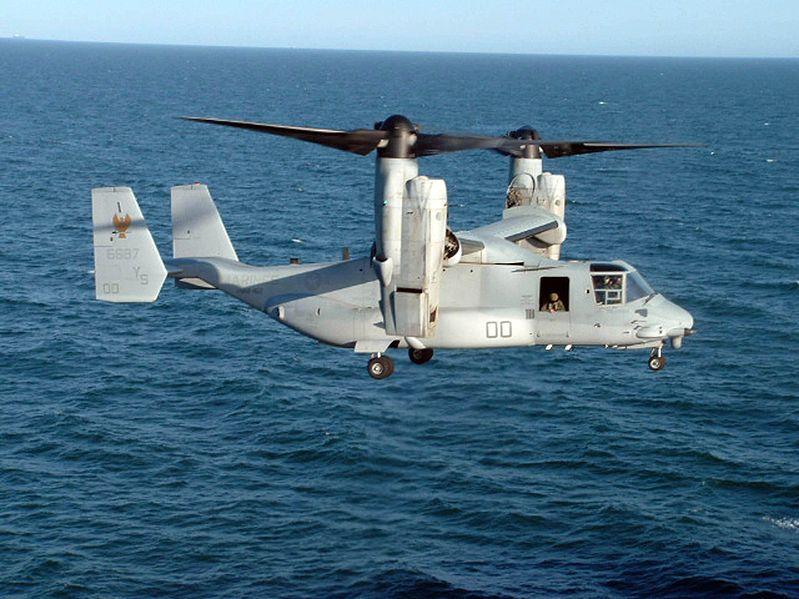 USMC Ospreys Continue Okinawa Move