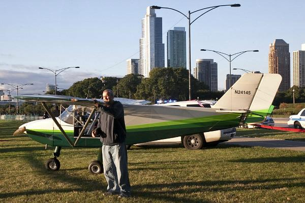 Pilot Lands on Crowded Chicago Street