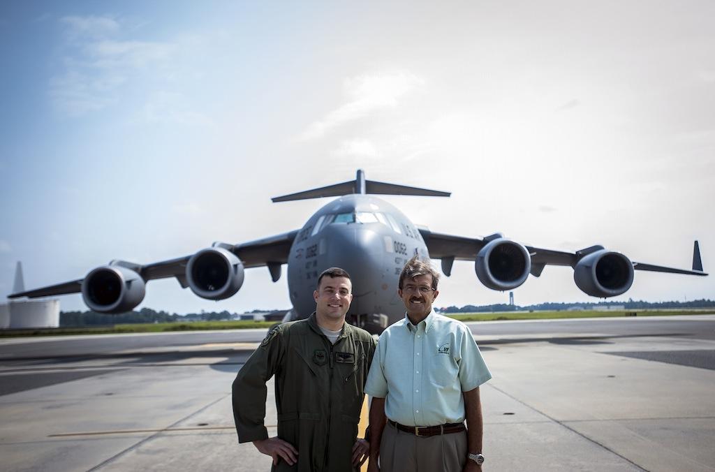 C-17 Flight Nostalgic for Father, Son
