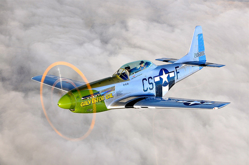 P-51, Crew Lost Off Texas Coast