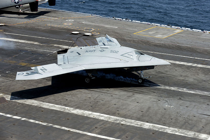 X-47B Back on Deck for Testing