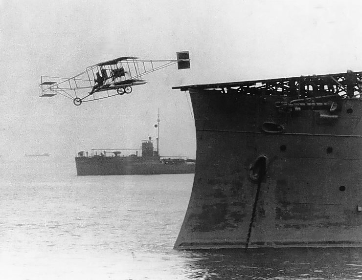FLASHBACK: First Successful Carrier Takeoff