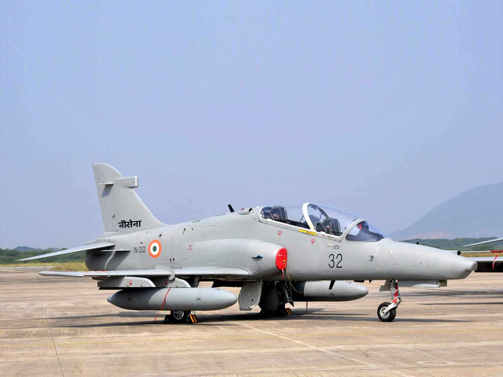 Indian Navy Inducts Hawk 132 Trainer