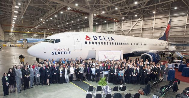 Delta Names Jet for Seattle