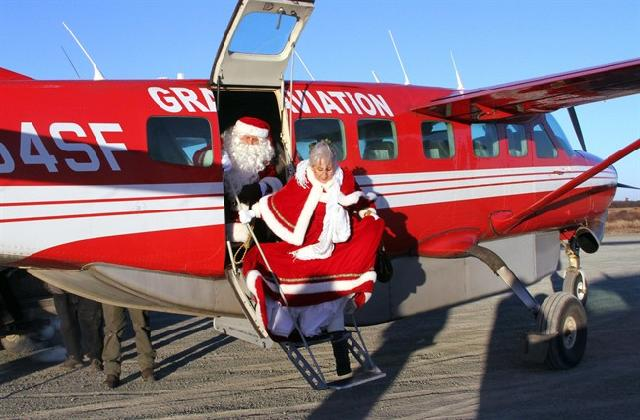 Alaska National Guard Delivers Santa