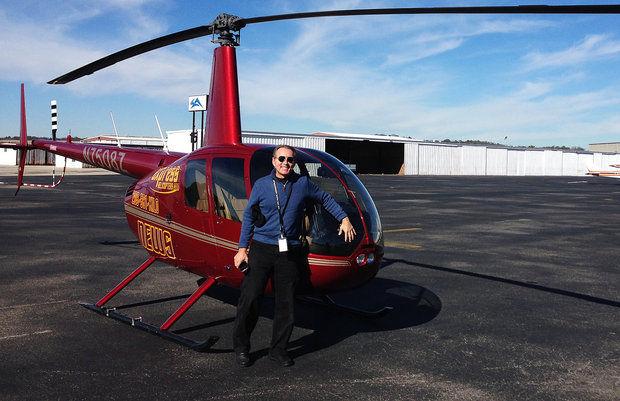 Pilot Helps Capture Southern Snowstorm