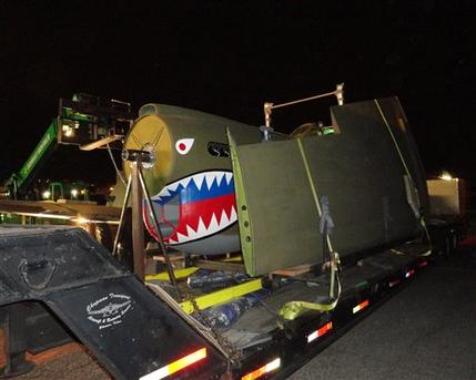 P-40 Warhawk on Display in New Orleans