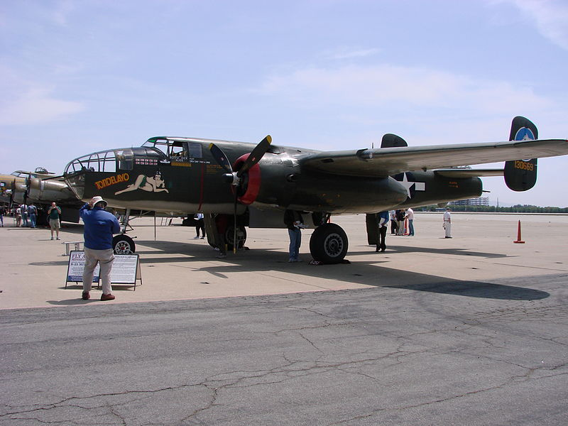 B-25J 'Tondelayo' Flying Over San Francisco