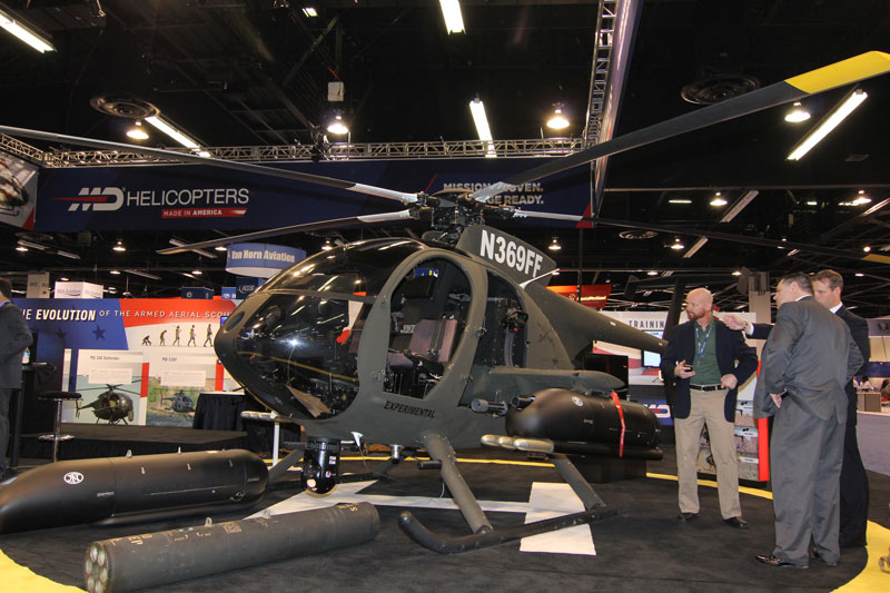 MD 530G Armed Scout Debuts at Show