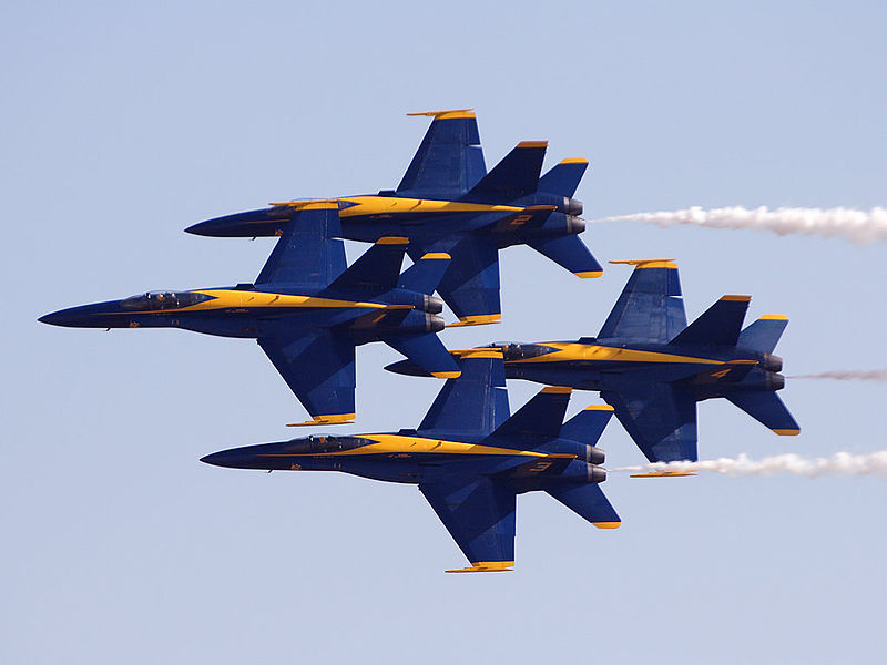 Blue Angels Return to LA County Air Show